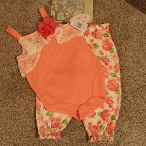 """Little Lass Baby"" Girl Summer Set"